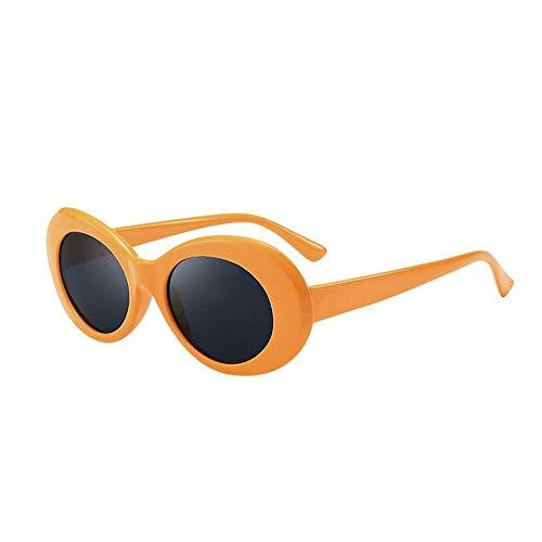 Unisex-Sonnenbrille Klassische Trendige Ovale Sonnenbrille UV400 Schutzgläser HOOPERT (Q)