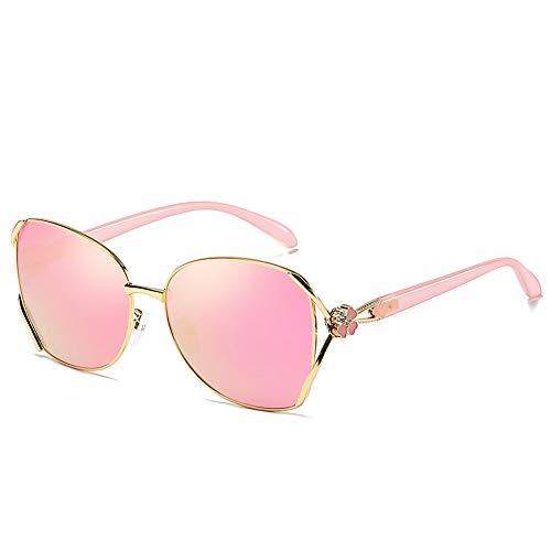 FXXUK Klassische, übergroße Sonnenbrille mit polarisierten Gläsern für Damen. 100% UV400-Schutz, Damen-Sonnenbrille,Pink
