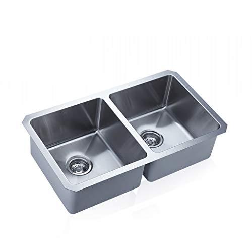 La double fente 304 épaissie d'évier balayé par évier d'acier inoxydable a incorporé l'évier de cuisine de grande capacité Meubles-lavabos