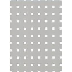 GAH-ALBERTS 467197 - Chapa perforada - perforación Square, de aluminio, anodizado color plata, 250 X 500 X 0,8 Mm