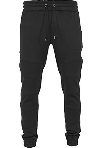 Urban Classics Men's Hose Scuba Fitted Biker Pants - Sports Trousers - Black (Schwarz), Large (Manufacturer size: