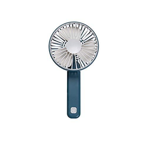 CHOUJJ USB-Lüfter Mini-Lüfter Handheld-Aufladung Kleiner Lüfter tragbare Stummschaltung Multi-Speed-Windgeschwindigkeit Faltung USB wiederaufladbare Taschenlüfter@Marine_Falten Marine Handheld