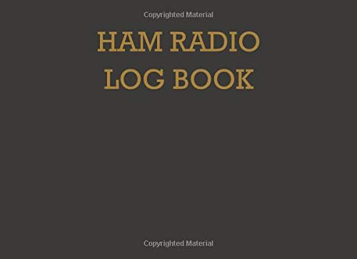 Ham radio log book: Notebook for amateur radio operators: Handy logging sheets to keep your notes organized in one place: Brown and orange cover design