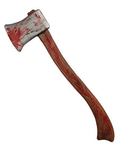 Blutige Halloween Horror Axt als Kostümzubehör & Spielzeugwaffe