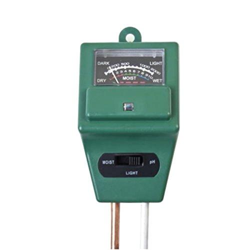 Amazmall 3 in 1 PH Boden Tester Feuchtemessgerät Wasser Licht Messgerät für Garten Pflanze Blume Gras Rasen