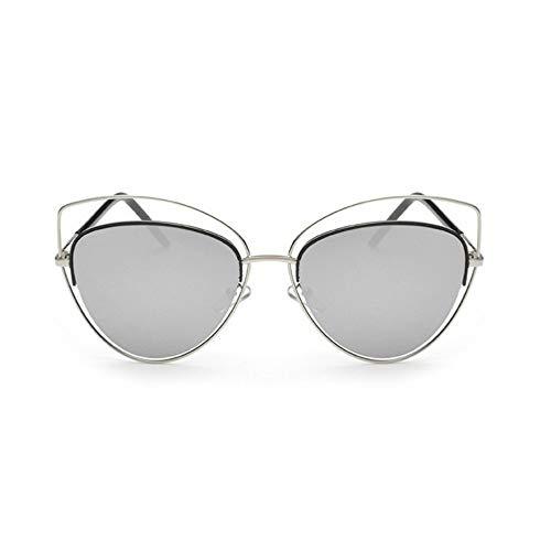 MoHHoM Sonnenbrille Übergroße Spiegel Rosa Sonnenbrille Cat Eye Vintage Sonnenbrille Frauen Weibliche Schattierungen Lady Sonnenbrille Großhandel Silve