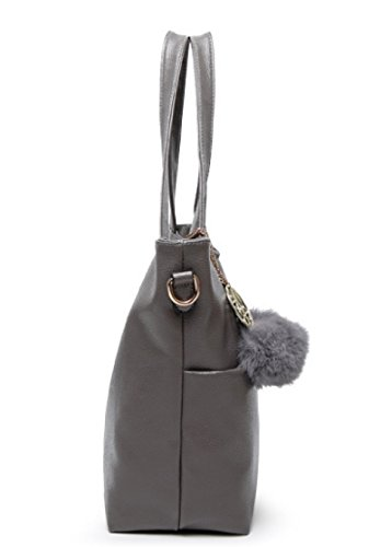 PDFGO Handtaschen Handtaschen Casual Big Bags Einfache Schultertasche Messenger Bag Tide PU Tasche Tote Bag Red