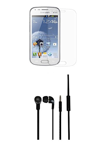 FELICITY Tempered Glass Screen Guard Screen Protector & Super Bass Headphone Combo for Samsung Galaxy Star Pro S7262  available at amazon for Rs.399