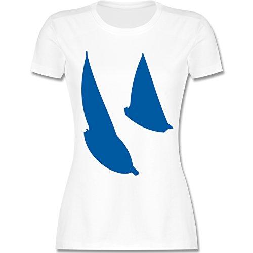 Schiffe - Segelboote - tailliertes Premium T-Shirt mit Rundhalsausschnitt für Damen Weiß