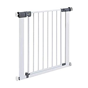 Safety 1st Quick Close ST Extra Secure Metal Child Safety Gate Stair Gate Extension Can be Extended Up to 136cm for Clamping White 73-80cm (from 6-24Months)   1