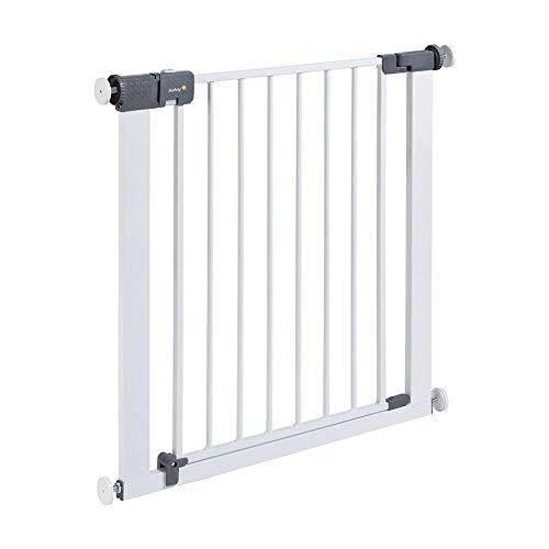 Safety 1st Barrière de sécurité en métal pour enfant Fermeture rapide Peut être rallongée jusqu'à 136cm Blanc 73-80cm (à partir de 6-24mois)
