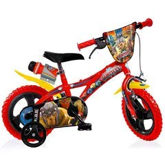 Gormiti Boy Bike 12 Inch Front Brake on Handlebar and Rear Fixed Pinion Brake Removable Trainingwheels Red