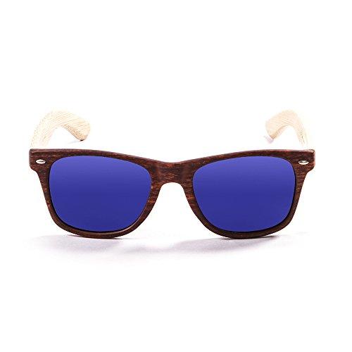 OCEAN SUNGLASSES - beach wood - lunettes de soleil en Bambou - Monture : Bambou - Verres : Revo Bleu (50001.3)