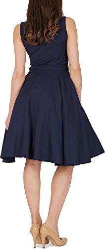 Black Butterfly 'Luna' Retro Clarity Kleid im 50er-Jahre-Stil (Nachtblau, EUR 44 – XL) - 3