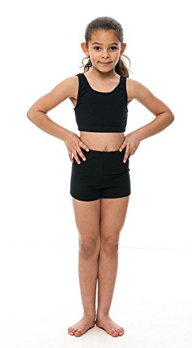 82a013b636 Girls Ladies Black Cotton Dance Fitness Sports Gym Hot Pants Shorts ...