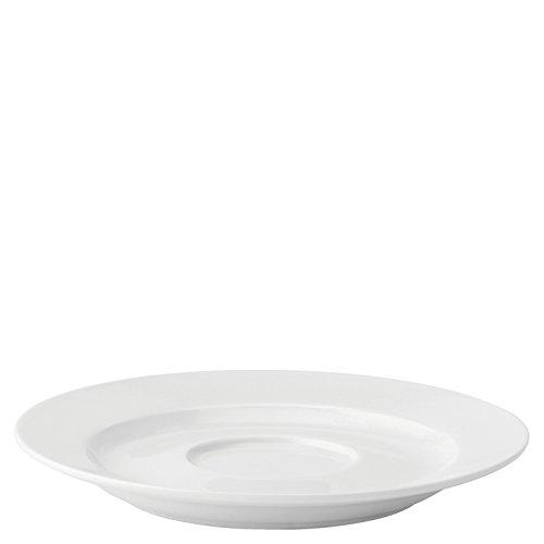 Utopia Anton Noir en porcelaine fine Z03062-000000-b01006 traditionnel Soucoupe, 14,6 cm (lot de 6)