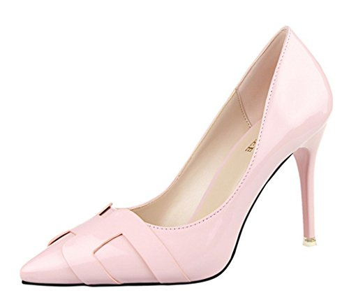 Minetom Mujer Primavera Atractivo Charol Pumps High Heel Shoes Stilett