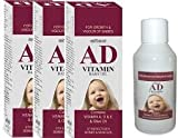 #8: AD baby massage oil ( pack of 3 bottle , each 100 ml ) - with vitamin A,D,E, n OLIVE OIL