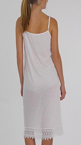 Melody Damen Unterkleid Weiß