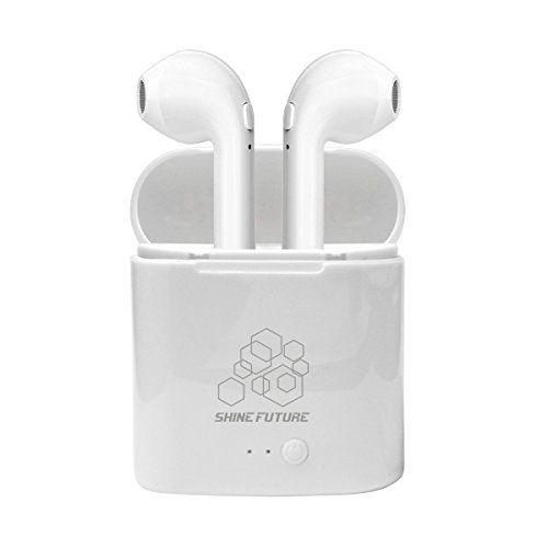 Bluetooth Kopfhörer Shinefuture 4.1 Kabellose In Ear Ohrstöpsel mit Tragbarer Ladestation und Mikrofon für Apple und Android Geräte