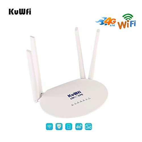 KuWFi 300Mbps Desbloqueado 4G LTE CPE Router Ranura