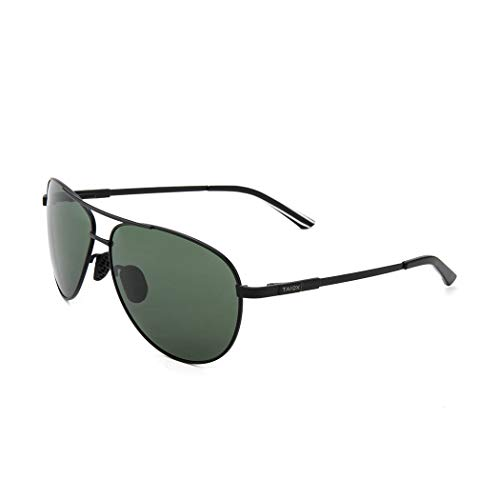 TAIQX Aviator Sunglasses for Men and Women Premium Military Polarized Sunglasses Titanium Frame