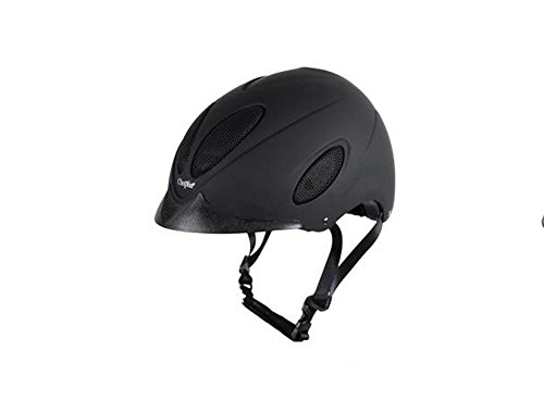 apparecchiature di ventilazione traspirante cappello cavallo Hawkeye equestre casco di guida per gli uomini e le donne lo stesso paragrafo ( colore : Nero , dimensioni : 56cm )