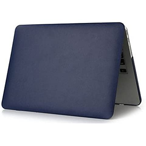 Pelle di lusso di alta qualità della copertura sottile cassa completo del corpo per aria macbook 11.6 (colori assortiti) ( Colore : Nero )