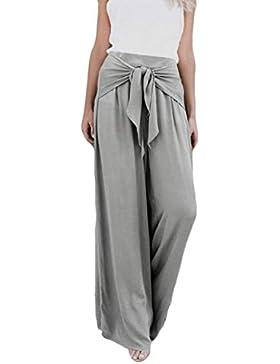 ❤️ Pantalones Mujer Suelta Pierna Ancha,Pantalones Acampanados Palazzo Flare de Cintura Alta Casual de Moda Absolute