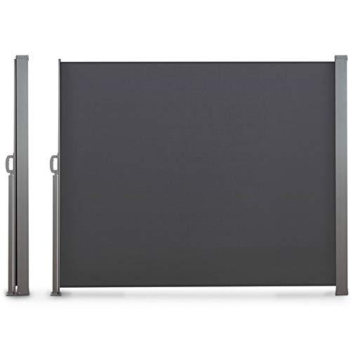 Probache - Paravent extérieur rétractable 300x160cm Gris Anthracite Store Vertical