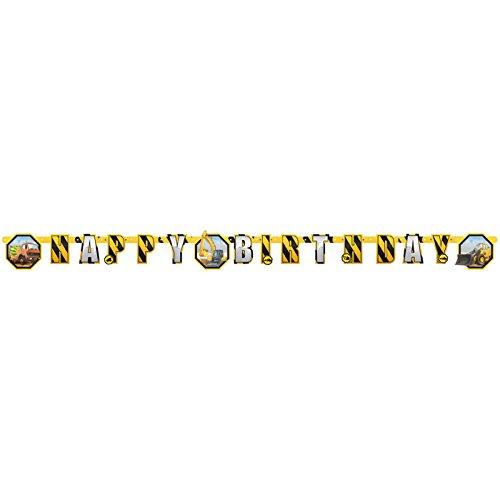 (Amscan Happy Birthday-Partykette * BAUSTELLE * für Party und Geburtstag // Girlande Banner)