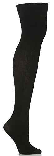 Ladies 1 Pair Trasparenze Dora Ribbed Wool Over The Knee Socks In 5 Colours