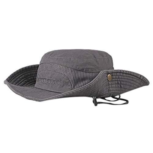 Marco Kostüm Polo - ziYOU hat Unisex Hut Stroh Outdoor Tourismus Sommer schutzkappe weiche atmungsaktive Sonnenhut(One Size, Grau)