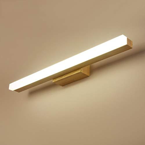 Creative Wood Art Spiegelfrontleuchte Moderne LED Garderobe Garderobenschrank Spiegelleuchte Spiegelleuchte (Größe: 80 cm)