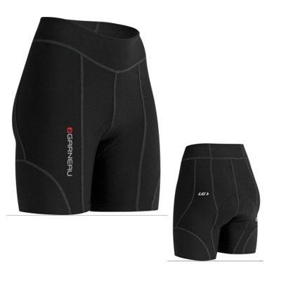 Louis Garneau Damen Fahrradhose Fit Sensor 5.5 gepolstert und atmungsaktiv, Damen Unisex-Erwachsene, 1050420-20-M, schwarz, Medium -