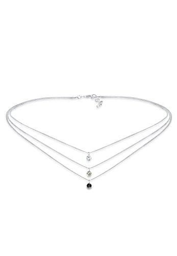 Elli collana da donna in argento 925 con cristalli swarovski
