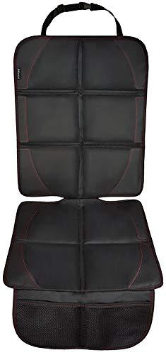 Autositzauflage für Kindersitz von ZAROSO, Isofix geeignet, Auto-Kindersitzunterlage wasserabweisend, Autositzschutz, universelle Passform | Premium 600D Royal-Oxford-Material in Schwarz