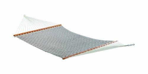 The Garden Hammocks® Bequemer Schlaf-Hängekorb, geflochten, gesteppt, Doppelhängematte Kaki (Ständer Nicht im Lieferumfang enthalten) (Und Deck Patio-design-software)