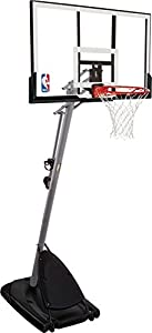 Spalding Basketballanlage NBA Gold Portable, transparent, 3001651010948