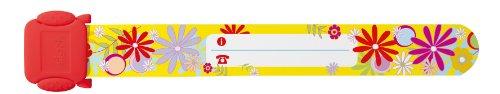 Sigel ID008 Kinder-Sicherheits-Armband zum Beschriften, Blumen, 19,7 cm lang