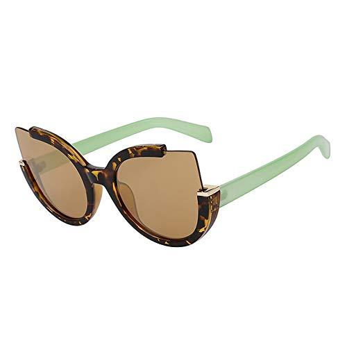 Zbertx Cat Eye New Vintage Sonnenbrille Für Frauen Frauen Fashion Trendy Sonnenbrille Uv400 Retro Weibliche Stilvolle Brillen,Green Leopard Arm
