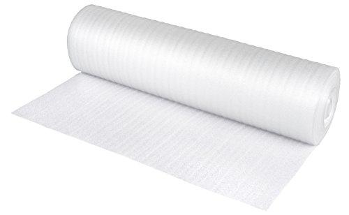 NIPS 118806209 Schaumfolie Pe-Packschaum Rolle 1 m x 25 m Stärke, 2 mm, weiß