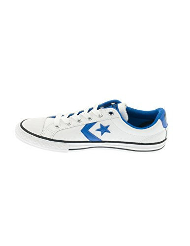 Converse Star Player scarpa in pelle Bianco / blu Bianco