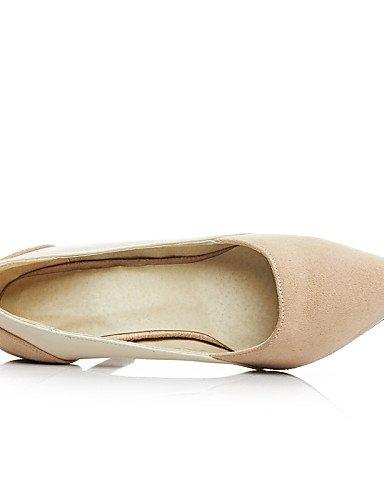 WSS 2016 chaussures molleton été / automne talons / pointu orteil talons bureau des femmes&autres carrière / casual talon aiguille noir / beige-us7.5 / eu38 / uk5.5 / cn38
