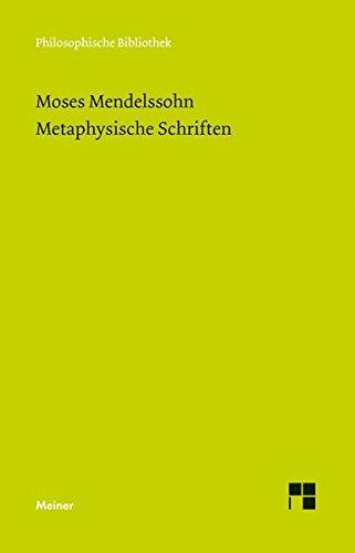 Metaphysische Schriften (Philosophische Bibliothek)