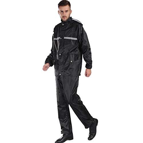 Comcrin Unisex Impermeabile Pantaloni della Pioggia Tuta Impermeabile Antipioggia Tuta da Pioggia Split Moto Riflettente in Tessuto Oxfo