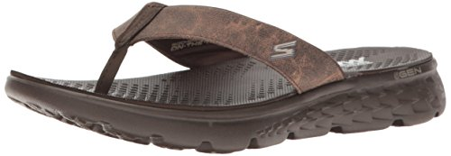 Skechers Herren On-the-Go 400-Vista Plateausandalen, Braun (Choc), 41 EU