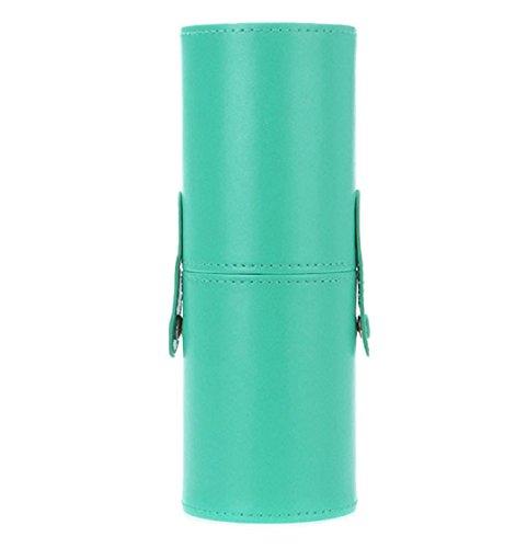 1 Stück Make-up Pinsel PU Zylinder Kolylong Bürsten Halter grün (Wohnungen Leder Grün)
