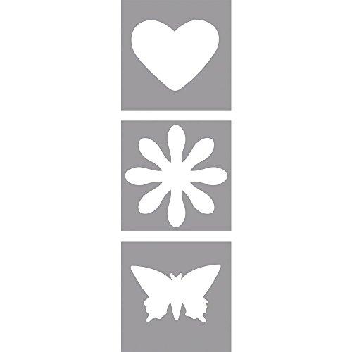 Rayher Motivstanzer Set: Herz, Blume,Schmetterling ø 2,54cm, 1 Zoll, geeignet für Papier/Karton...