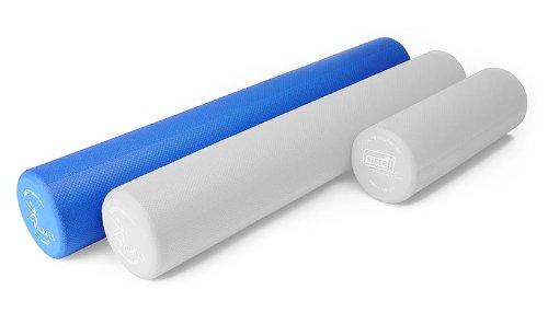 Pilatesrolle SISSEL Pilates Roller Pro 100cm Massagerolle Roller Foam blau